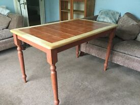 """Tiled Kitchen Table Good Condition Height 29"""" (74cm) Width 47"""" (119cm) Depth 29.5"""" (74cm)"""