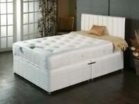 Aloe Vera bed Double or Kingsize Memory foam and luxury pocket sprung FREE HEADBOARD