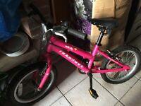 Girls bike Ridgeback 15 inch fuchsia pink 4-11yrs