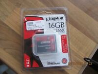 KINGSTON 16GB COMPACT FLASH BRAND NEW SEALED