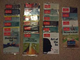 """""""The Economist"""" Magazine - 22 Brand New Sealed Magazines - £110 Value"""
