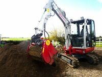 DIGGER HIRE / PLANT HIRE / POST KNOCKER / SOIL SCREENER / BUILDING SERVICE / AGGREGATE SUPPLIES