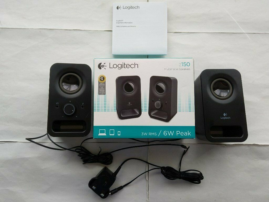 Logitech Z150 PC Laptop Multimedia Speakers 6 Watts With 3 5 Connection In  Box | in Hull, East Yorkshire | Gumtree