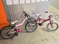 2 x kids bikes