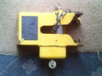 caravan front hitch lock with key