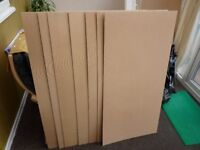 7 sheets of brand new 2ft x 4ft (nominal) hardboard