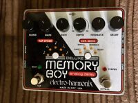 EHX Deluxe Memory Boy delay guitar effect pedal