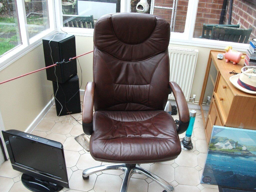 Office/Computer Chair Brown Leather