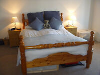 Pine Bed Frame and Mattress – Standard UK Double Size