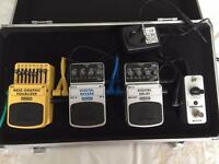 Bass pedals including case