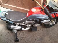 BMW MOTOR-BIKE AND VW BEETLE KIDS OUTDOOR TOYS (fully working and charged)