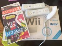Nintendo Wii Resort Pack and Just Dance 2&3