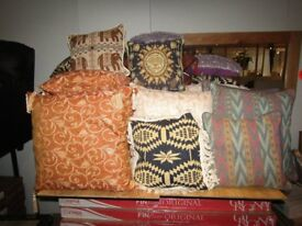 JOBLOT WHOLESALE of 44 Different Colours Sizes Decorative Cushions