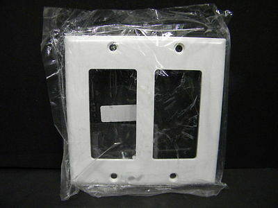 Gang White Decorator (Eagle 2152W Two Gang White Decorator Wall Plate)