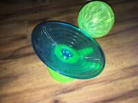 Chinese / dwarf hamster wheel and ball
