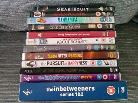Bundle of Dvd's and Cribbage Board Game