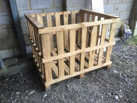 Pallet crates for sale just £10 each Ideal for storing firewood etc