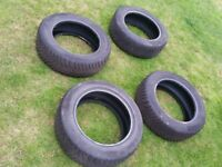 4 nearly new Continental ContiWinterContact TS850 Winter Tyres 205/55/R16 91H M+S