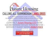YOUR PROPERTY LET WITH ZERO FEES--GUARANTEE ALL YEAR ROUND RENT