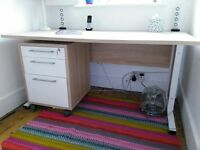 John Lewis desk and filing cabinet (can be sold separately or together)