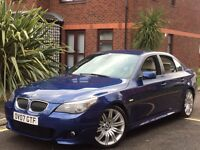 2007 BMW 530d M SPORT AUTO-TIP INDIVIDUAL SPEC LE MANS BLUE IMMACULATE IN/OUT