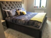 Fabric Super King Size Upholstered Storage Bed   Dark Grey   RRP £1,490