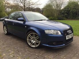 "2007 Audi A4 2.0 TDI S Line special edition 170 Bhp Full leather seats parking sensors 18"" RS4 wheel"