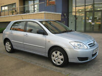 2005 toyota corolla 1.6 automatic, 5 door, 1 owner, mot 2017, 66k f/s/h, hpi clear 100%