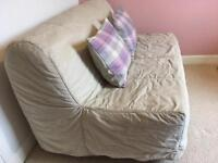 Ikea sofa bed with cream cover