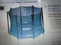 jump for fun 8ft trampoline orange