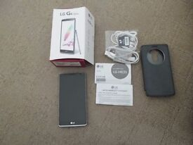 LG G4 STYLUS 8GB IN TITAN WITH CASE AND GORILLA GLASS SCREEN