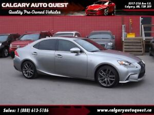 2014 Lexus IS 350 F-SPORT AWD/NAVI/B.CAM/LEATHER