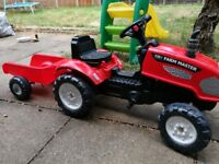 Tractor with trailor ride on