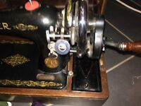 Singer sewing machine, vintage hand operated