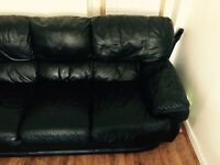 Three seater used leather sofa, no time wasters.
