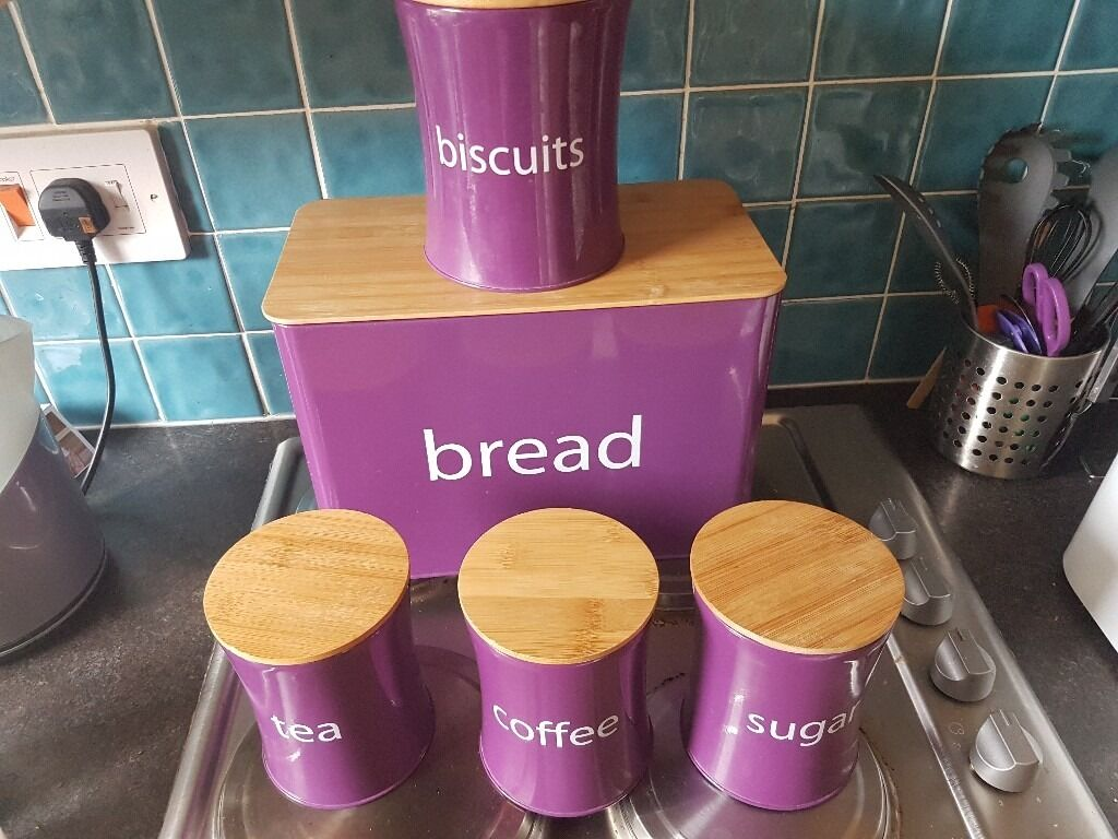 Purple Kitchen Canister Sets Kitchen Canister Set In Potton Bedfordshire Gumtree