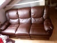 Brown Leather Sofa!!!!!