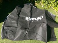 SUZUKI RACING MOTORBIKE DUST COVER £5.00