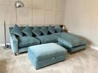 """Loaf """"Oscar"""" Chaise Sofa and matching """"Bumper"""" storage footstool"""