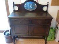 Antique Side Table / Dressing Table with Mirror
