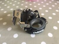 Shimano Deore 9 speed band-on front derailleur (28.6mm diameter) bottom pull (Shimano FD-M510)