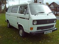 D Reg April 1987 White VW T25 Ex-Devon 8 Seater minibus