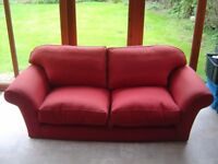 Red sofa good condition. Private sale but may be able to deliver locally.