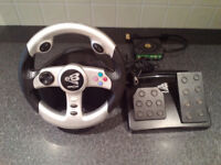 Xbox EV8 Racing Wheel and Foot Pedals by Play On