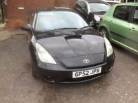 TOYOTA CELICA 1.8 VVTI COUPE LONG MOT ,HISTORY NEW PARTS ,NEW CLUTCH . BIG ALLOYS NEW TYRES
