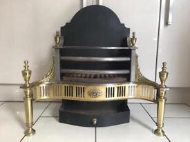 Adam / Regency Style Fire Basket Fire Grate With Backplate