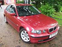 BMW 3 Series 1.8 316ti SE Compact 3dr NEW MOT LOW MILEAGE V. CLEAN 2002 (51 reg), Hatchback