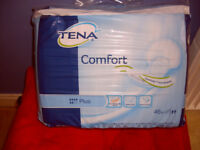 TENA PLUS PADS - PACKS OF 46 - ALL SEALED AND NEW