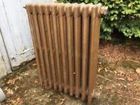 Nice four column free standing cast iron radiator
