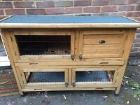 Two Storey Rabbit/Guinea Pig Hutch WITH Cover